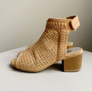 Justice Girls Perforated Open Toe Heel Sandals